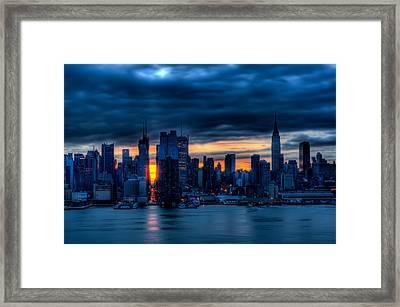 Manhattan Morning Framed Print by David Hahn
