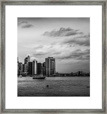 Manhattan Skyline Right Triptych Framed Print