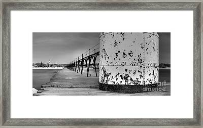 Manistee North Pierhead Lighthouse Framed Print by Twenty Two North Photography