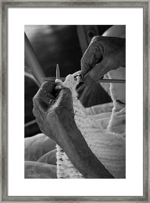 Manos Abuela Framed Print by Samantha Pinero