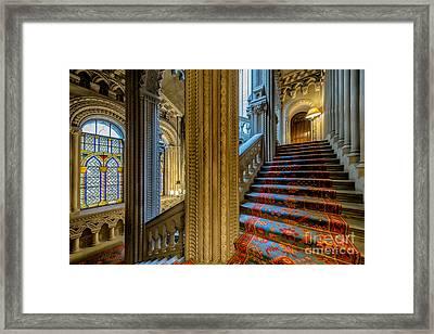 Mansion Stairway Framed Print by Adrian Evans