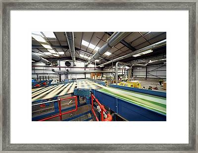 Manufacturing Of Timber Decking Planks Framed Print by Mark Sykes