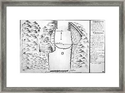 Map Danube Framed Print by Granger