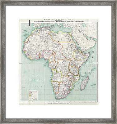 Map Of Africa Framed Print