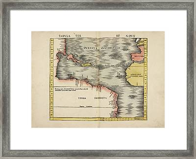 Map Of The Ancient World Framed Print
