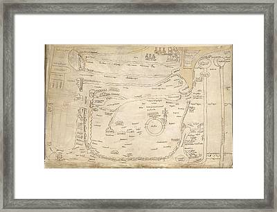 Map Of The Holy Land Framed Print by British Library