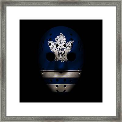 Maple Leafs Jersey Mask Framed Print by Joe Hamilton