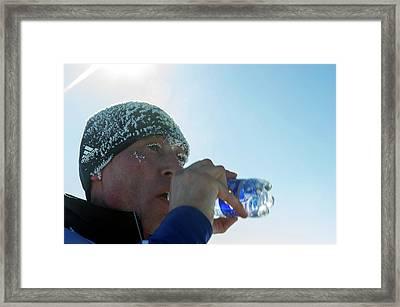 Marathon Runner Framed Print by Louise Murray
