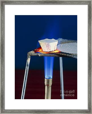 Marble Calcium Carbonate Heated Framed Print by Martyn F. Chillmaid