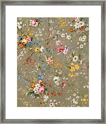 Marble End Paper Framed Print