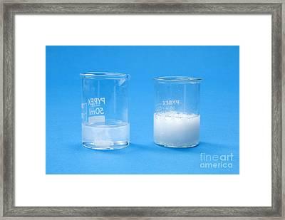 Marble In Acid Framed Print