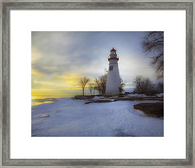 Marblehead Lighthouse Lake Erie Framed Print