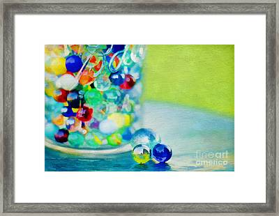 Marbles II Framed Print by Darren Fisher
