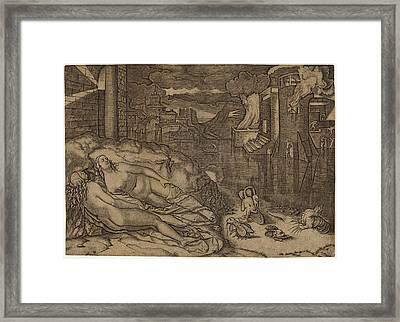 Marcantonio Raimondi Possibly After Raphael Italian Framed Print by Quint Lox