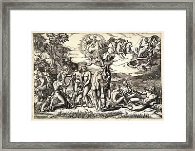Marco Dente Aka Marco Da Ravenna, Italian Framed Print by Litz Collection