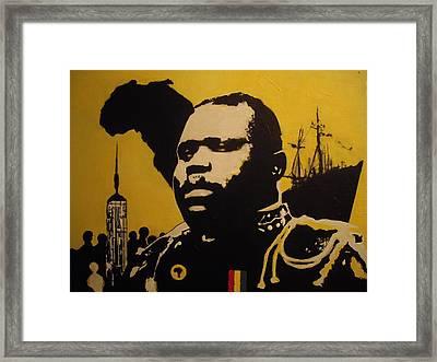Marcus Garvey Framed Print by Robert Cunningham