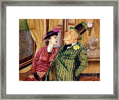 Margaret And W.c. Fields Framed Print