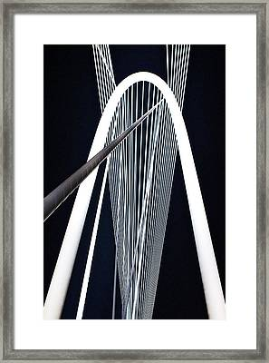 Framed Print featuring the photograph Margaret Hunt Hill Bridge by John Babis