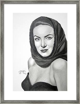 Maria Felix Framed Print