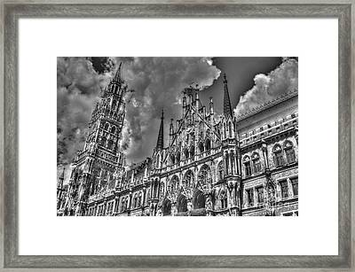 Marienplatz In Munich Framed Print