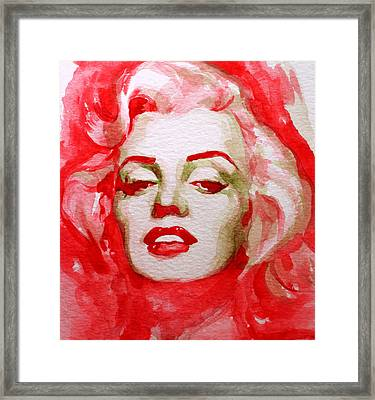 Framed Print featuring the painting Marilyn by Laur Iduc