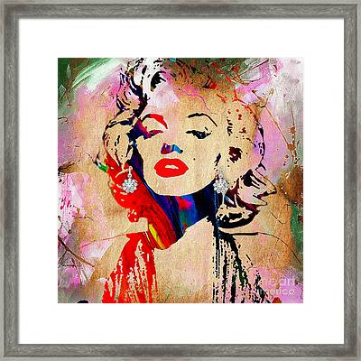 Marilyn Monroe Diamond Earring Collection Framed Print