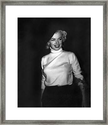 Marilyn Monroe In Korea Framed Print by Underwood Archives