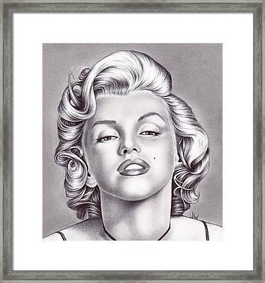Marilyn Monroe Framed Print by Jamie Warkentin