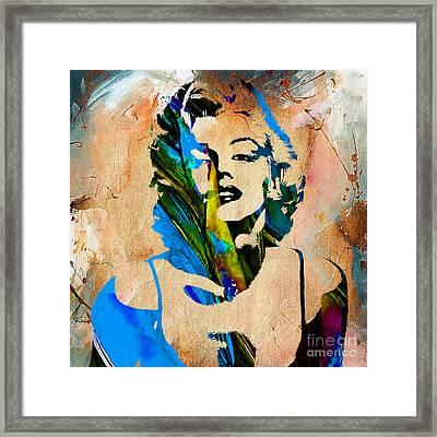 Marilyn Monroe Painting Framed Print by Marvin Blaine