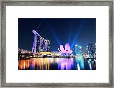 Marina Bay Sands Framed Print