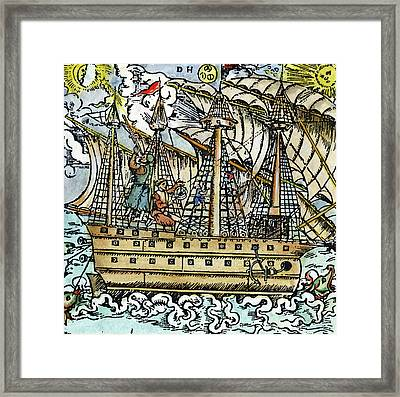 Mariners Sighting, 1557 Framed Print by Granger