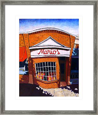 Mario's Framed Print by Mike Gruber