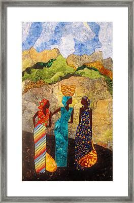 Market Day Ladies Framed Print
