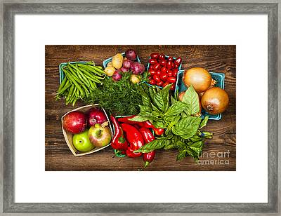 Market Fruits And Vegetables Framed Print