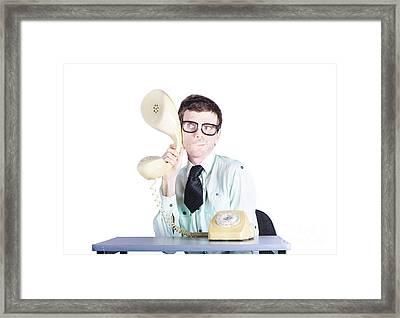 Market Reserach Business Spy Eavesdropping Framed Print