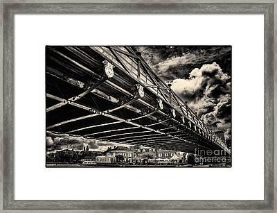 Marlow Suspension Bridge Spanning The River Thames Framed Print