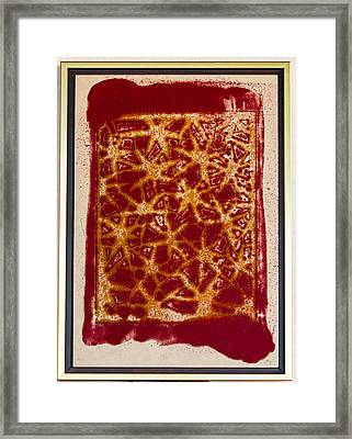 Maroon And Gold Framed Print