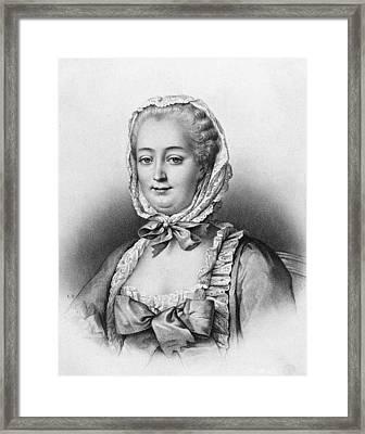 Marquise De Pompadour (1721-1764) Framed Print by Granger