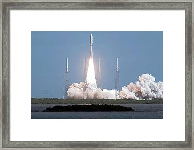 Mars Science Laboratory Spacecraft Launch Framed Print by Nasa