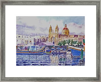 Marsaxlokk Malta Framed Print by Godwin Cassar