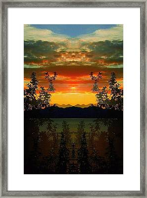 Framed Print featuring the photograph Marsh Lake - Yukon by Juergen Weiss