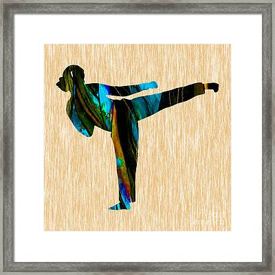 Martial Arts Karate Framed Print by Marvin Blaine