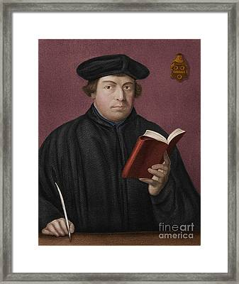 Martin Luther, German Theologian Framed Print