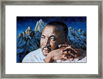 Martin Luther King Framed Print by John Lautermilch