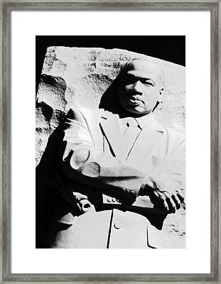 Framed Print featuring the photograph Martin Luther King Memorial by Cora Wandel