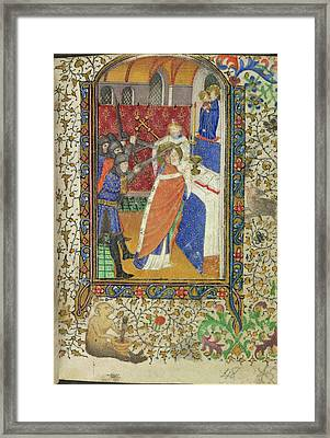 Martyrdom Of Thomas Becket Framed Print by British Library