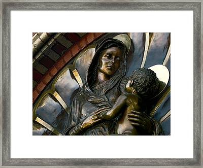 Mary And Jesus Framed Print by Daniel Hagerman