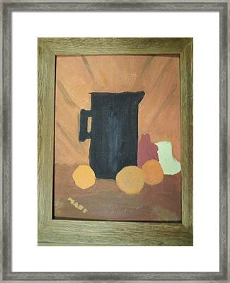 Framed Print featuring the painting #1 by Mary Ellen Anderson