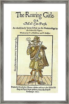 Mary Frith (1585?-1660?) Framed Print by Granger