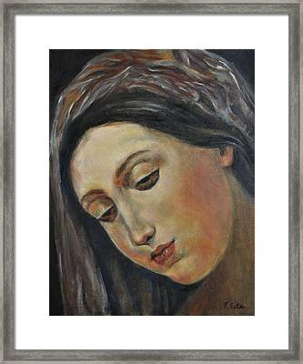 Mary Framed Print by Terry Sita